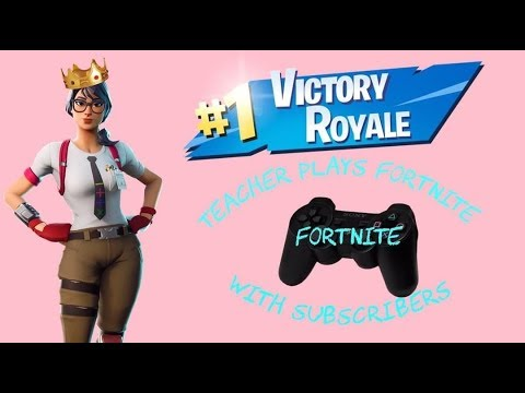 Teacher plays FORTNITE with SUBSCRIBERS *Live* **Road to 7K**