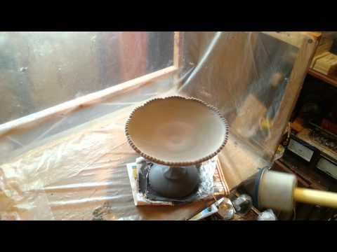 Флокирование стеклянной вазы d