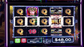 MOON MAIDENS Slots Aristocrat Four Times The Money High Stakes Choctaw Gambling Casino Durant, OK.