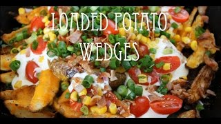 Loaded Potato Wedges  Potato Wedge Nachos