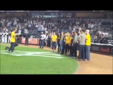 Broadway Cast Sings National Anthem at Yankees Game | BEAUTIFUL - THE CAROLE KING MUSICAL