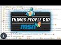 THINGS PEOPLE DID ON MSN MESSENGER