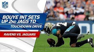 A.J. Bouye First INT as Jaguar Sets Up Allen Hurns' TD Catch   Ravens vs. Jaguars   NFL Wk 3