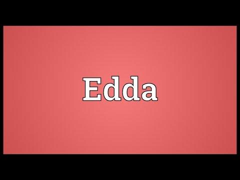 Edda Meaning