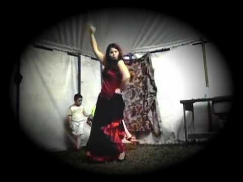Spanish student Olga Santos dancing the flamenco in the UK-re edit