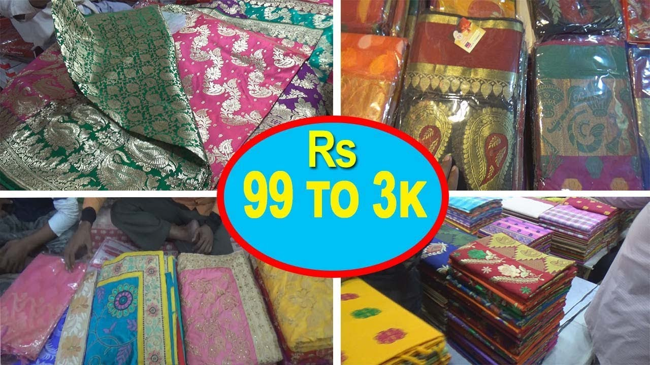 d3b412e790 Saree Wholesale Market With Price | Banarasi sari | Tant Saree | Kolkata