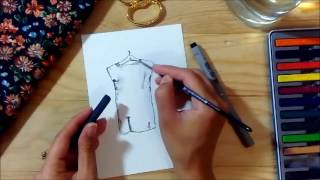 Gambar cover Nasıl Yapılır? - Çiçekli Elbise / How to Sew a Basic Floral Dress? (Sketching Part)