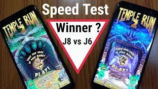 Samsung Galaxy J8 Speed Test With Samsung Galaxy J6 | Hindi