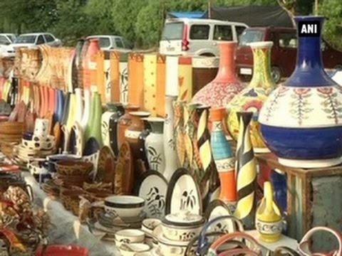 Handicraft Fair Exhibits Handmade Products In Jaipur Youtube