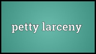 Petty larceny Meaning