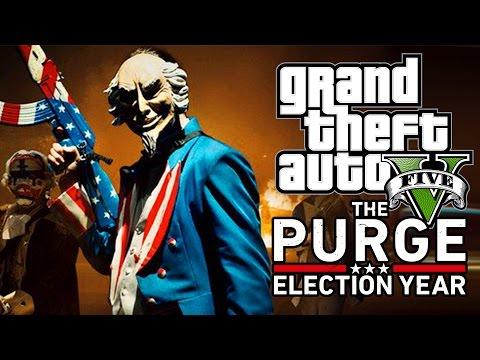 GTA 5 'THE PURGE ELECTION YEAR'  REMAKE! GTA V MACHINIMA