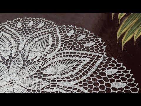 Вязание тонкой салфетки «Нежность хризантемы» Часть 1