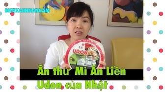 CUỘC SỐNG MỸ #329 |  Ăn thử Mì Ăn Liền Udon của Nhật- Ăn Vặt ở Mỹ | BIENXANHNANGAM