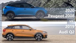 2020 Peugeot 2008 vs 2019 Audi Q2 (technical comparison)