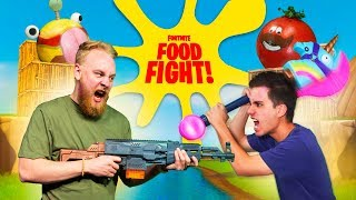 Fortnite Food Fight Challenge In Real Life!