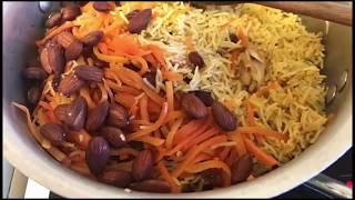 Pilau rice | Baris iyo digag | Afghani rice | rice and chicken