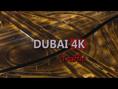 Ultra HD 4K Dubai Travel Vehicles Highway Freeway Car Traffic City Rush Hour UHD Video Stock Footage