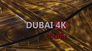 Ultra HD 4K Dubai Travel Vehicles Highway Freeway Car Traffic City Rush Hour UHD Video Stock Footage