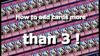 YGOPro Hack : How To Add Card More Than 3