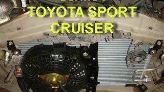 TOYOTA SPORT CRUISER  ซ่อมระบบแอร์รับมือโลกร้อน