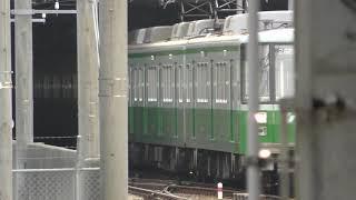 谷上駅の動画(20190117) *谷上車庫から電車が入ります。