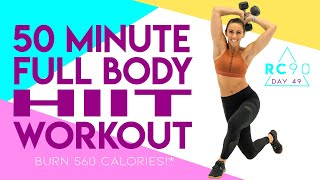 50 Minute Full Body HIIT Workout 🔥Burn 560 Calories!* 🔥 Day 49/90
