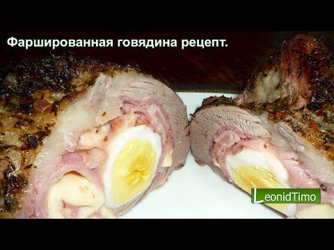 Фаршированное мясо в духовке рецепт с фото