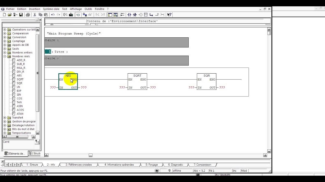 Step 7 simatic manager langage ladder pt 28 instructions math abs step 7 simatic manager langage ladder pt 28 instructions math abs sqrt sqr r ccuart Choice Image