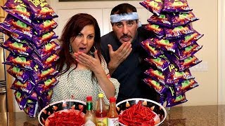 EXTREME SPICY TAKIS FUEGO CHALLENGE!! | MAMA RUG AND PAPA RUG