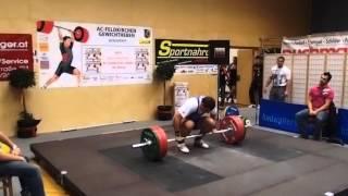 Dominic Pichler Stoßen 3.Versuch 145Kg KGW: 94,2kg