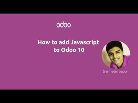 How to add Js(Javascript) in Odoo 10