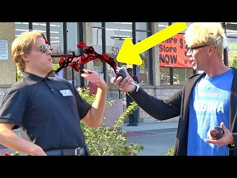 THROWING WINE ON SECURITY GUARD!!! Public Trolling - (Magic Cop Pranks 2018!)