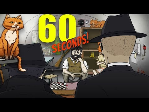 NEW SECRET AGENT ENDING & WE GET A CAT! | 60 Seconds DLC (CATomic Ending)
