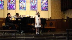 Kelly Moncla Singing Simple Gift, Tomorrow & Bare Necessities May 5 2012