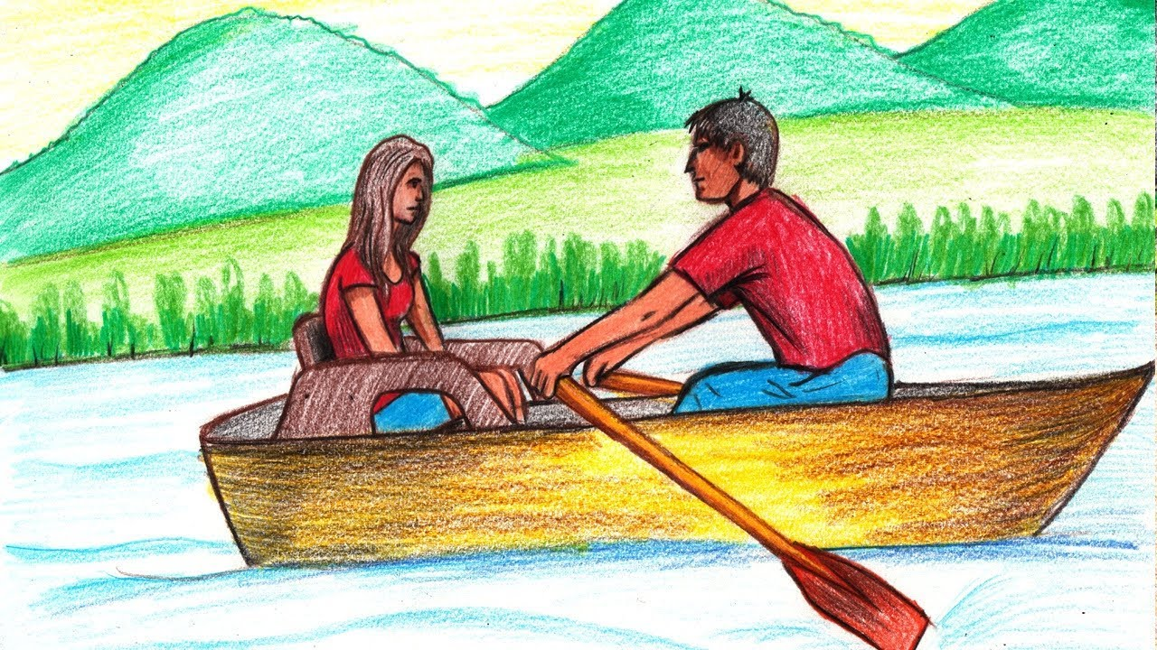 Image result for couple on a boat cartoon