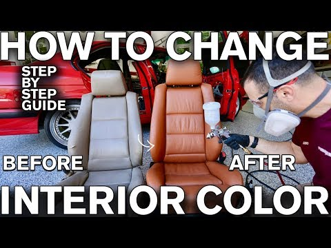 How to Change Car Interior Color with Dye