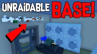 ALMOST UNRAIDABLE BASE IN VANILLA! Only 2 Scrap required! | Unturned Base Design