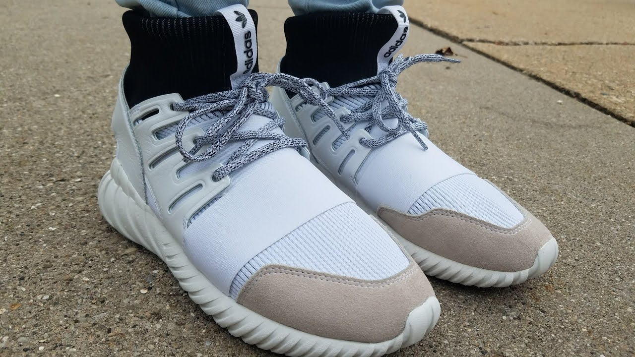online store 87e71 a61f9 On foot/review of Adidas tubular doom 'Yin Yang' - YouTube