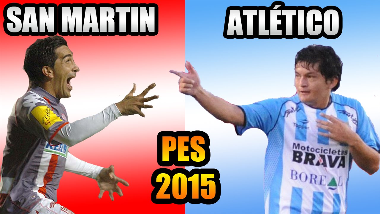 PES 2015 | SAN MARTÍN VS ATLETICO TUCUMAN | Camisetas ...