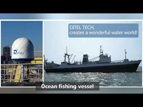 Which offshore platforms are suitable for Ditel V101 VSAT antenna installation