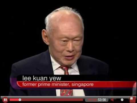 Charlie Rose Intimate interview with  Lee Kuan Yew 李光耀
