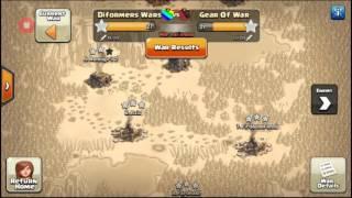 CLASH OF CLANS - Diformers Wars VS Gear Of War - cara menang war dengan base terkuat dan terbaik