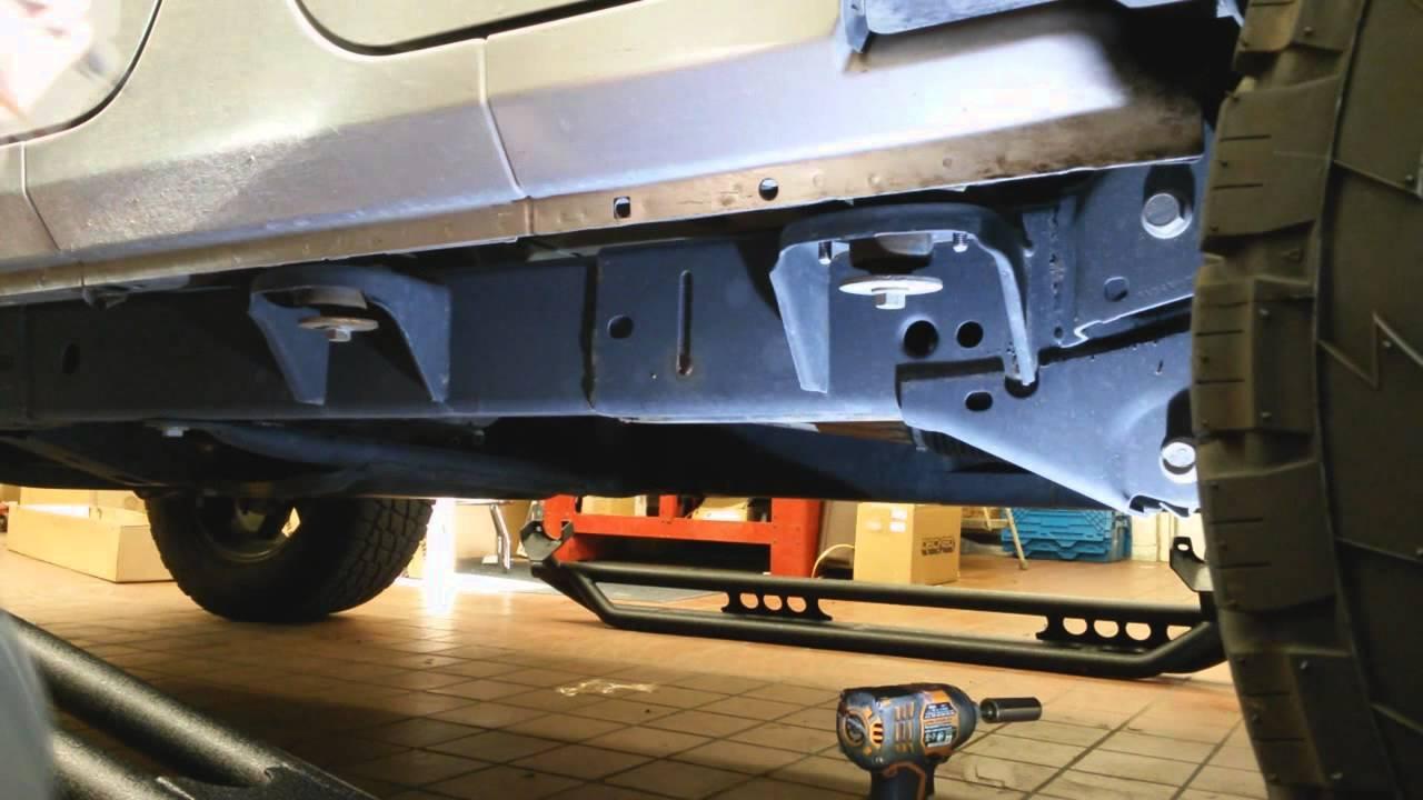 How To Install Smittybilt Side Armor Steps Jeep Wrangler