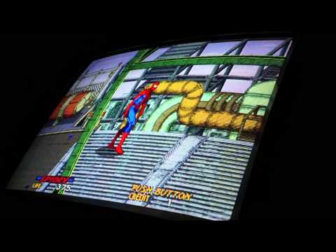 Spider-Man: The Video Game, Arcade Board Gameplay (Sega system 32 Hardware)