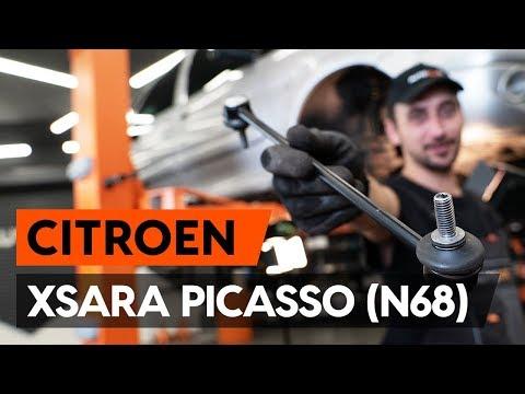 Как заменить переднюю тягу стабилизатора CITROEN XSARA PICASSO (N68) [ВИДЕОУРОК AUTODOC]