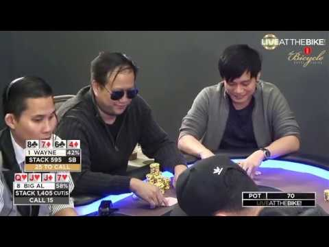 10 $5/$5 Pot Limit Omaha Hands of Wayne Chiang! Feat. Colleen Long & Bart Hanson on Live at the Bike