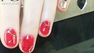 Дизайн гель-лаком на коротких ногтях на День Cв. Валентина / Valentine's Day Nails