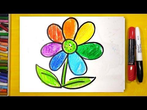 Как нарисовать цветик семицветик карандашом