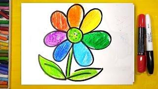 Как нарисовать Цветик Семицветик (Радугу) / уроки рисования для детей