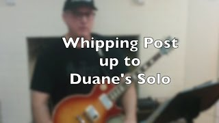 Whipping Post Guitar Lesson - Demo Up to the First Solo w Tab